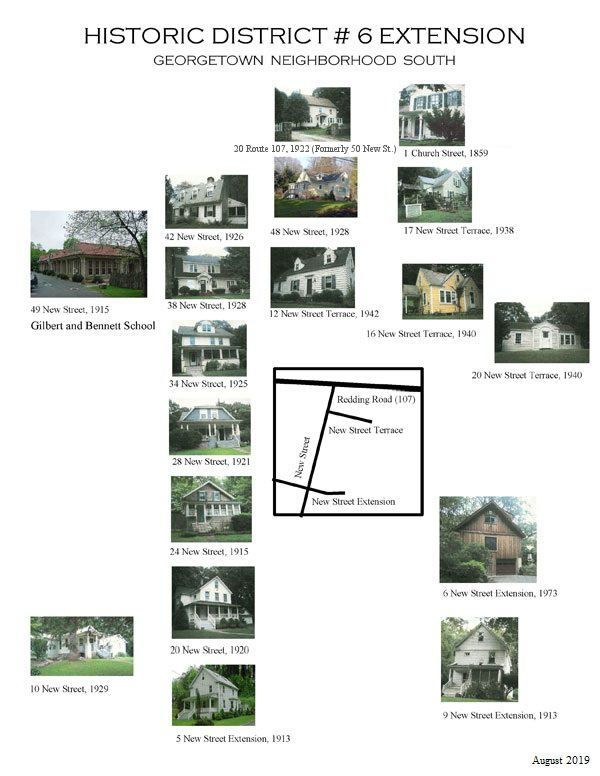 Photographs of Historic Buildings from each historic district
