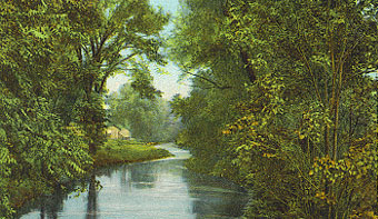The Norwalk River winds through the valleys of Wilton